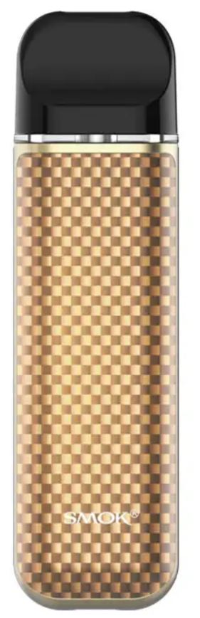 Smoktech NOVO 2 elektronická cigareta 800mAh Gold Carbon Fiber 1ks