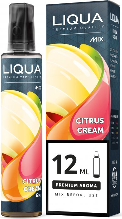 Příchuť Liqua Mix&Go 12ml Citrus Cream