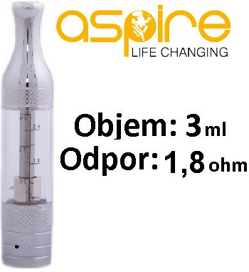 aSpire ET-Victory BVC Clearomizer 1,8ohm čirý 3ml