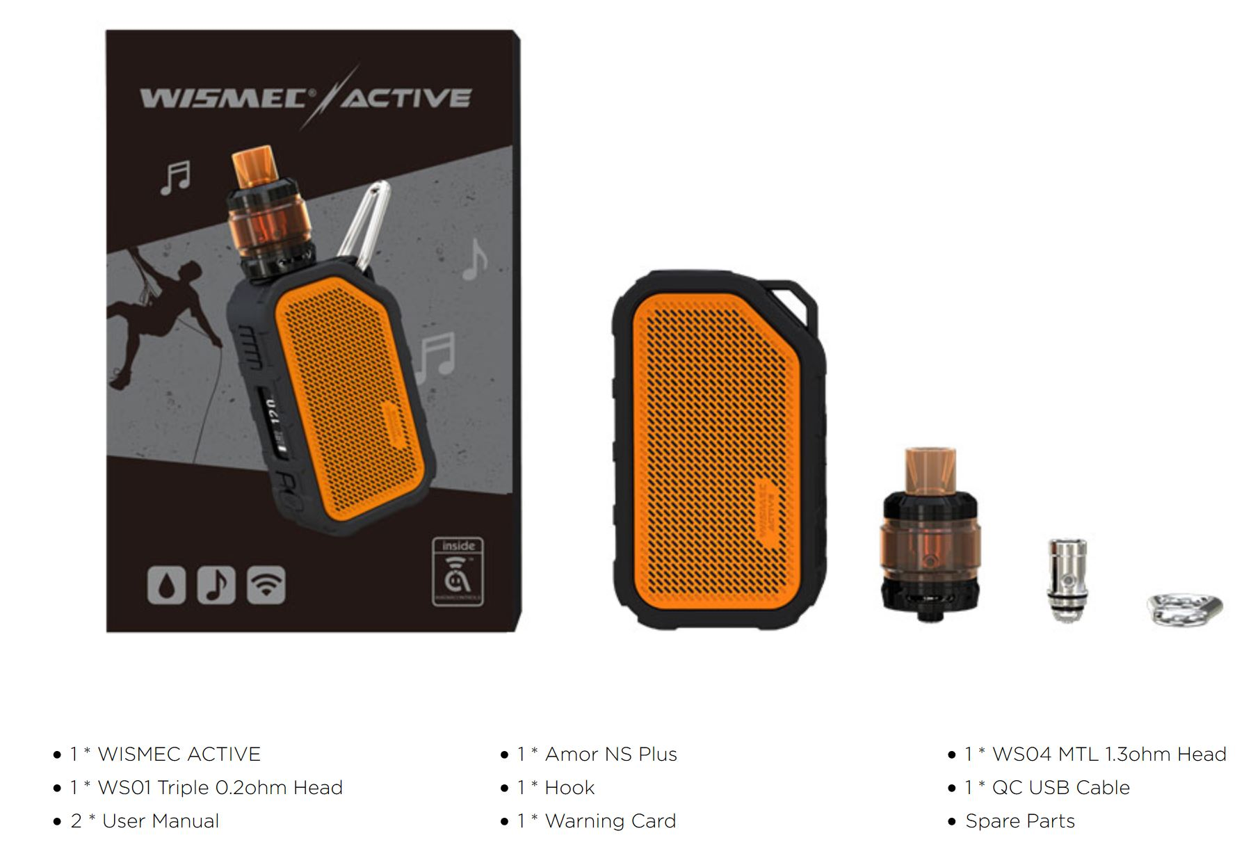 Wismec ACTIVE TC80W Full Kit 2100mAh Black