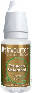 Flavourtec Tobacco and Menthol 10ml (Tabák a mentol)